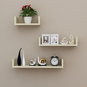 U-Shaped Wall Shelves Wall Mounted Floating Hanging Book Shelves Storage Racks Bookcases Set of 3 for Wall Bedroom