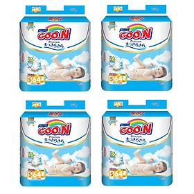 4 Gói Tã Dán Goo.n Premium Gói Cực Đại S64 (64 Miếng)