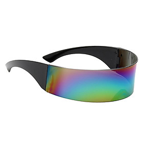 Women Mens Futuristic Visor Sunglasses Robotic Shield Shades Eyewear Gray