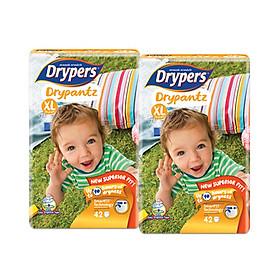 [combo 2 gói] Tã quần Drypers Drypantz XL 42 miếng (12 - 17kg)