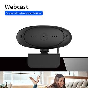 1080P HD Computer Camera Video Conference Camera Webcam 2 Mega Pixel Auto Focus 360° Rotation USB Plug & Play with