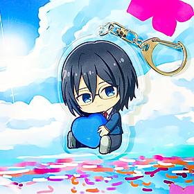 Móc khóa acrylic 2 mặt in hình HORIMIYA ver ÔM TIM anime chibi dễ thương quà tặng xinh xắn