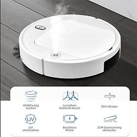 ROBOT hút bụi thông minh thế hệ mới , hút cực mạnh tích hợp phun sương, lau nhà, chiếu tia cực tím diệt khuẩn, thiết kế hiện đại - Hàng chính hãng