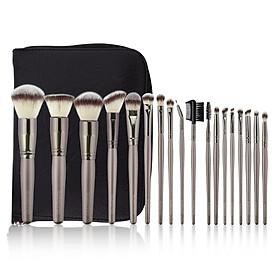 KRAUMETIK 18Pcs Makeup Brushes Set Face Foundation Powder Blush Eye Shadow Lip Eyeliner Make Up Brushes Tool
