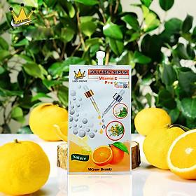 Combo 3 Gói Serum Dưỡng Ẩm Thần Kì tặng kèm Bông Tẩy Trang Mihoo 200 miếng - Mcrow Beauty Collagen Vit C