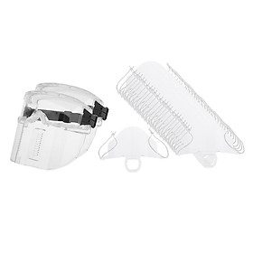 Set Of 2 Splash Proof Goggles Dust Face  Cooking 25 Mouth