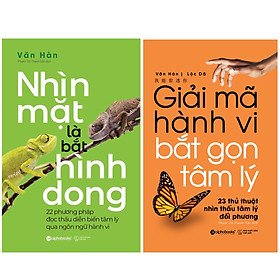 Combo Sách : Nhìn Mặt Là Bắt Hình Dong + Giải Mã Hành Vi, Bắt Gọn Tâm Lý - 23 Thủ Thuật Nhìn Thấu Tâm Lý Đối Phương