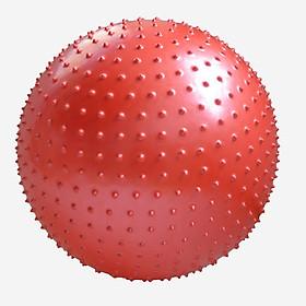 Bóng tập Yoga, Gym có gai 75cm màu đỏ
