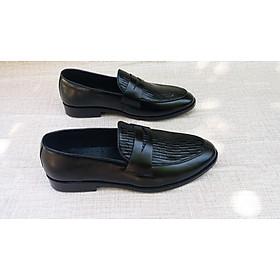 Giày lười nam da bò mềm mại lịch lãm - gl02