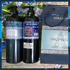 Bộ dầu gội xả Hischer Argan Oil for Dry & Demaged hair cho tóc khô hư tổn 1000ml - Hàng chính hãng