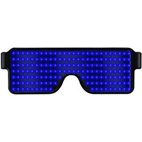 Luminous Glasses Multi-function Dynamic Display Glasses Birthday Party Flash Glasses Four colors