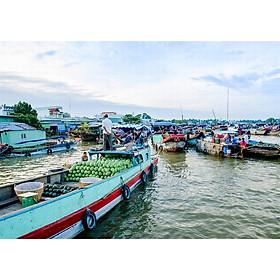 Tour Sài Gòn Đi MỸ THO - CẦN THƠ 2N1Đ - Chợ Nổi Cái Răng - Cù Lao Tứ Linh - Thưởng Thức Đặc Sản Miền Tây - Đền Cồn Phụng