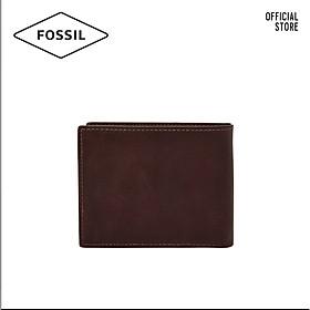 Ví cầm tay nam lớn dáng gập thời trang Fossil Derrick ML4154014 - màu nâu