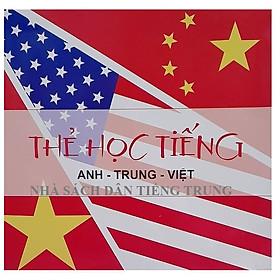 Flashcard tiếng Trung Anh Việt - Bộ thẻ học từ vựng tiếng Trung thông minh bộ 600 thẻ từ vựng anh hoa việt 20 chủ đề