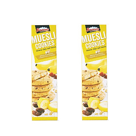 Combo 2 Hộp Bánh quy muesli chuối và nho khô Borovets 110G
