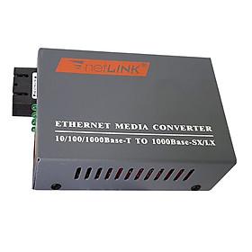 Bộ Chuyển Đổi Quang Điện Converter Netlink 1000Mb Single Mode Dùng 2 Sợi Quang - Hàng Nhập Khẩu
