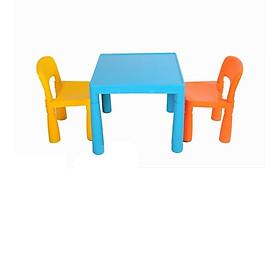 Bộ bàn ghế nhựa trẻ em mầm non cao cấp Song Long (1 bàn, 2 ghế) -Màu ngẫu nghiên