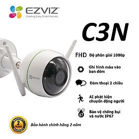 Camera EZVIZ C3N 1080P, WI-FI Không Dây, IP67 Ngoài Trời, Ghi Gình Ban Đêm Có Màu, Tích Hợp AI Phát Hiện Hình Dáng Người, Chuẩn Nén Video H.265--Hàng Chính Hãng