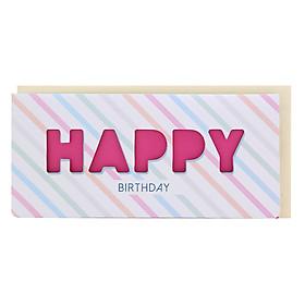 Thiệp Photostory Die-Cut A3 Happy Birthday 3