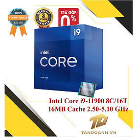 BỘ VI XỬ LÝ Intel Core i9-11900 8C/16T 16MB Cache 2.50 GHz Upto 5.10 GHz