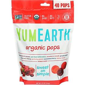 Kẹo mút hữu cơ YumEarth 40 cây