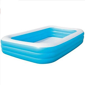 Premium Inflatable Swimming Pool Outdoor Paddle Pool 3-Layer Bathtub Water Toy