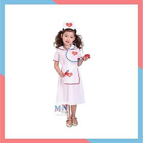 Bộ váy hóa trang y tá cho bé từ 4-12 tuổi G-0022