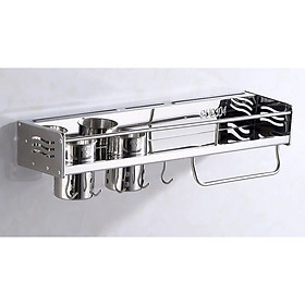 Kệ treo đồ nhà bếp đa năng Inox 304 cao cấp KB01