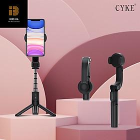 Tay cầm chống rung Gimbal 1 trục CYKE, gậy selfie kiêm tripod đa năng kèm điều khiển từ xa bluetooth, xoay 360° cho smartphones-Hàng chính hãng