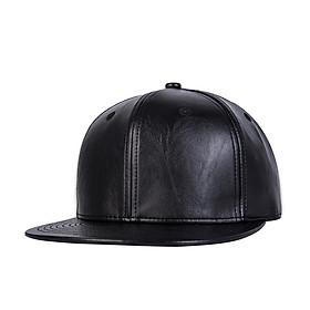 Mũ Hiphop Nón Hiphop Thời Trang Đen DA Trơn