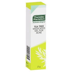 Gel hỗ trợ trị mụn tràm trà Úc Thursday Plantation Tea Tree Medicated Gel for Acne 25g