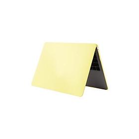Vỏ bảo vệ chống xước không trong suốt màu sắc đơn giản thuần khiết cho Macbook Air 13.3inch A1932 - Màu vàng nhạt