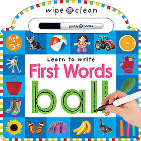 Wipe Clean : Learn to Write First Words (Priddy Books) (Board book)