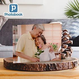 """Photobook - Voucher quà tặng in album ảnh bìa cứng dạng tạp chí ngang cỡ vừa 11"""" x 8,5"""" (28 x 22cm) theo yêu cầu"""