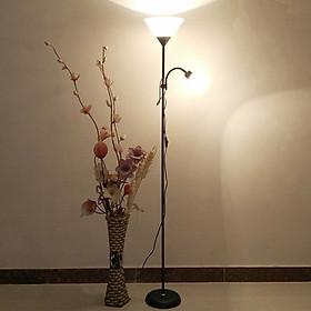 Đèn cây đứng trang trí nội thất phòng khách, phòng ngủ phong cách Châu Âu - Đèn Cây Đứng 2 Nhánh D280 [Kèm 02 bóng LED cao cấp] - Hàng Nhập Khẩu.