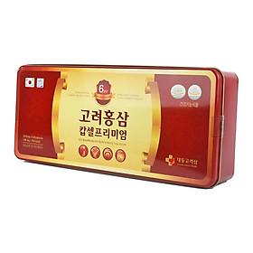 Thực phẩm chức năng Viên uống Daedong Korea Ginseng Tổng hợp Hồng sâm 6 tuổi, Nhung hươu, Đông trùng hạ thảo và Nấm linh chi Hàn Quốc (120 Viên)