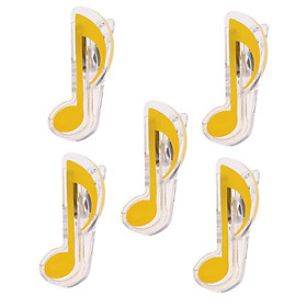 5 Pieces Plastic Music Note Book Page Clip Music Stand Accessory