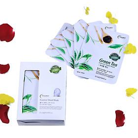 Combo 10 Gói Mặt Nạ Giấy Dưỡng Da Trà Xanh Holikey Fresh Green tea Mask Sheet 100% Cotton (25mlx10)