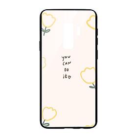 Ốp lưng CƯỜNG LỰC VIỀN ĐEN cho Samsung Galaxy S9 YOU CAN DO IT - Hàng chính hãng