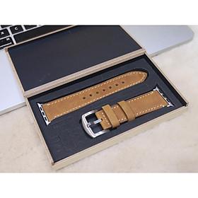 Dây đeo thay thế cho Apple watch 1,2,3,4,5 da bò sáp