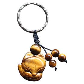 Móc Khoá Hồ Ly Phong Thuỷ Ngọc Quý Gemstones MK4