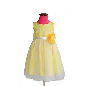 Đầm gấm vàng & công chúa gấm vàng hoa eo