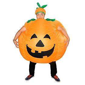 Trang Phục Bơm Hơi Hình Bí Đỏ Hóa Trang Halloween Cho Người Lớn
