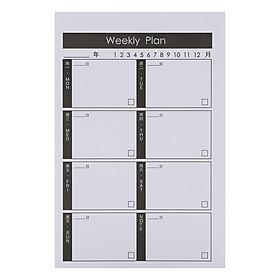 Tập Kế Hoạch Ghi Chú - Ngày Weekly Plan - Chữ Trung