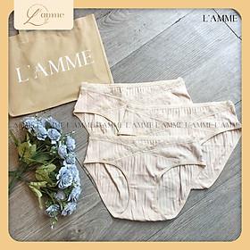 Quần lót bầu sau sinh - bán lẻ chiếc (Giao mẫu và màu ngẫu nhiên), chất liệu cotton kháng khuẩn cao cấp, thiết kế cạp chéo nâng đỡ bụng bầu - thiết kế bởi LAMME