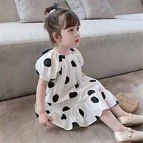 Váy họa tiết chấm bi kiểu dáng xinh xắn cho bé gái 8-20kg