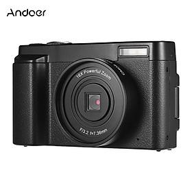 Máy ảnh kỹ thuật số cầm tay Andoer 1080P Full HD 24MP với màn hình xoay 3 inch. hỗ trợ wiFi thu phóng kỹ thuật số 16X