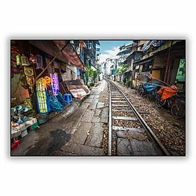 Tranh Trang Trí Đường Ray Phố Cổ (40 x 60 cm)