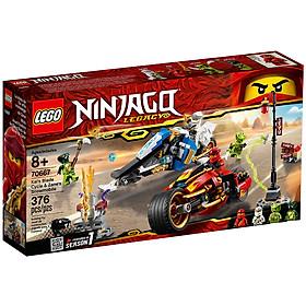 Đồ Chơi Lắp Ghép Mô Tô Lưỡi Kiếm Của Kai Và Mô Tô Băng Giá Của Zane Lego Ninjago 70667