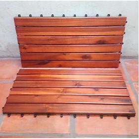 sàn gỗ tự nhiên cao cấp - dài 60 cm- gõ đỏ - 2 tấm.